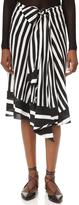 Tome Baja Stripe Drape Front Skirt