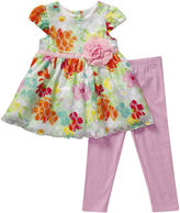 Youngland Young Land Floral Dress and Leggings Set - Toddler Girls 2t-4t