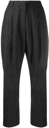 YMC High-Waisted Tapered Trousers