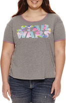 Fifth Sun Short Sleeve Scoop Neck Star Wars Graphic T-Shirt