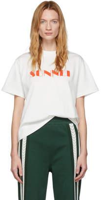 Sunnei White Logo T-Shirt