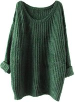 SimpVale Women Long Sleeve Oversized Knitted Baggy Sweater for Winter and Autumn