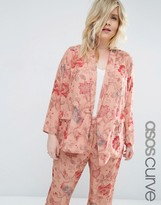 Asos Pajama Floral Print Blouse