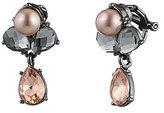 Carolee Queen of Gems Cluster Clip-On Drop Earrings