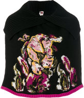 I'M Isola Marras intarsia knit cape