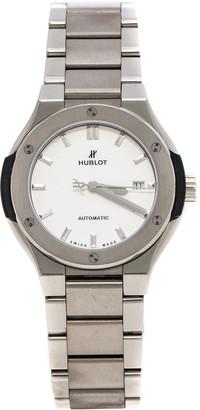 Hublot Silver Titanium Classic Fusion 585.NX.2610.NX Women's Wristwatch 33 mm
