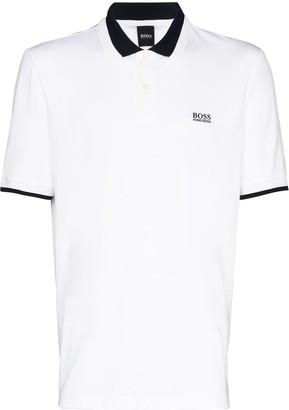 HUGO BOSS Logo-Embroidered Short-Sleeve Polo Shirt