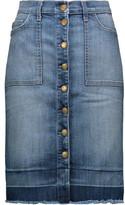Current/Elliott The Dotty Denim Skirt
