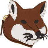 MAISON KITSUNÉ Brown Fox Head Coin Pouch