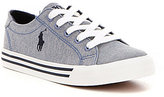 Polo Ralph Lauren Boy's Slater Chambray Denim Lace Up Sneakers