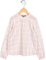 Bonpoint Boys' Plaid Long Sleeve Shirt