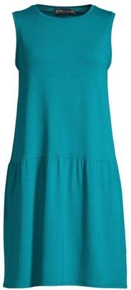 Eileen Fisher Tencel Jersey Stretch Drop Waist Dress