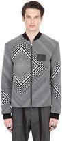 Var City Cotton & Wool Jacquard Bomber Jacket