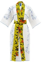 Thumbnail for your product : RIANNA + NINA Kendima Embroidered Cotton-poplin Robe Coat - Multi
