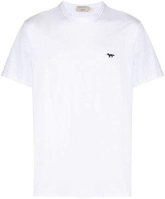 MAISON KITSUNÉ fox-embroidered cotton T-shirt