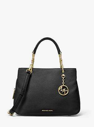 Michael Kors Lillie Medium Pebbled Leather Satchel