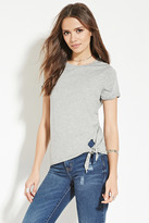 Forever 21 FOREVER 21+ Contemporary Knotted-Hem Tee