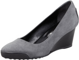 Tod's Suede Wedge, Gray