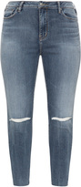 Silver Jeans Plus Size Ripped knee slim fit jeans