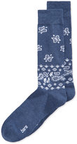 Bar III Men's Seamless Toe Patterned Bandana Dress Socks, Created for Macy's