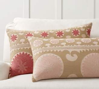 Pottery Barn Somers Embroidered Pillow Cover