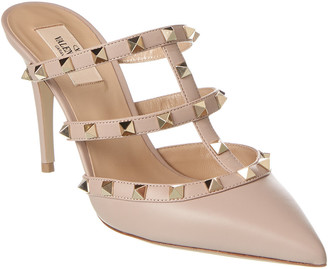 Valentino Rockstud 90 Leather Mule