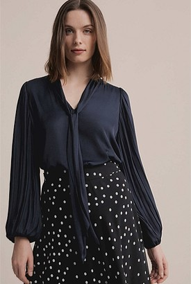 Witchery Pleat Sleeve Blouse