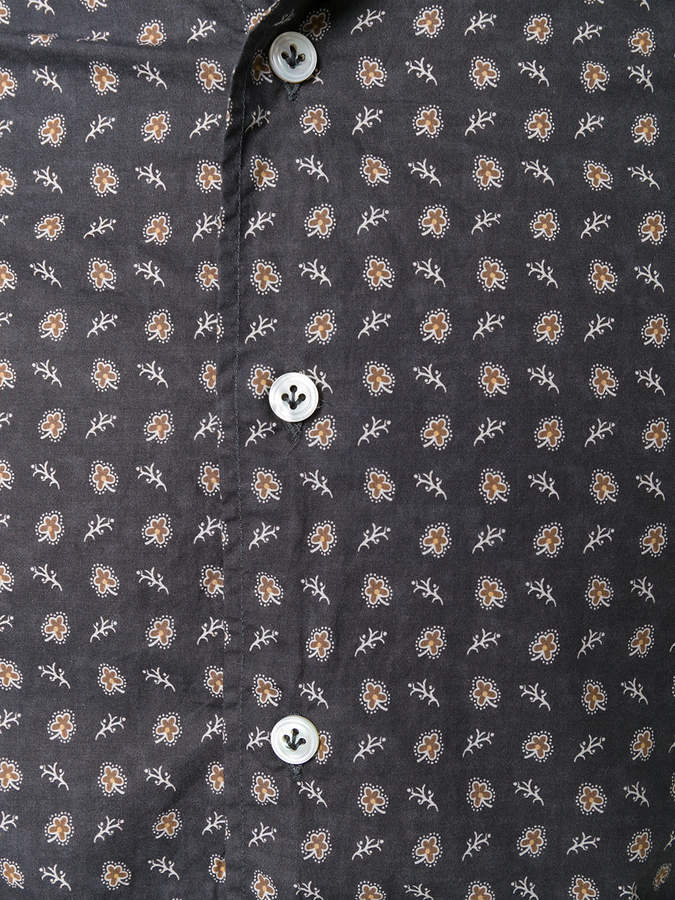 Lardini long-sleeved patterned shirt