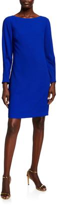 Trina Turk Calistoga Bateau-Neck Long-Sleeve Dress