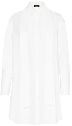 Akris Silk Poplin Sash Shirtdress