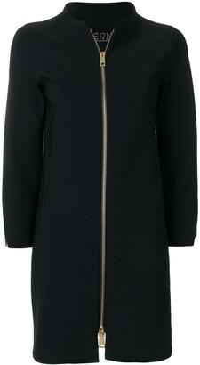 Herno straight-fit zip up coat