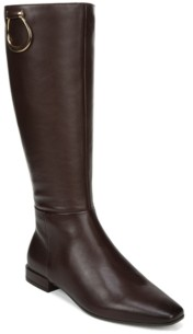 Naturalizer Carella Wide Calf High Shaft Leather Boots Women's Shoes