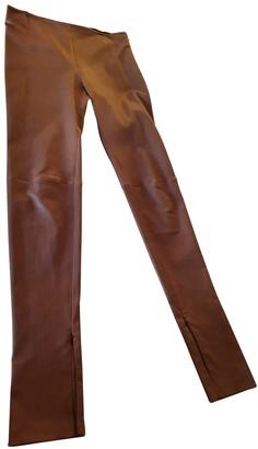 Balenciaga Brown Leather Trousers