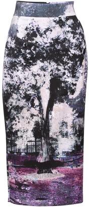 Louise Black Lucius Printed Midi Skirt