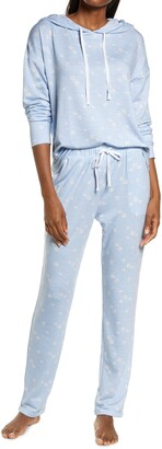 Emerson Road Daisy Print Hoodie Jogger Pajamas