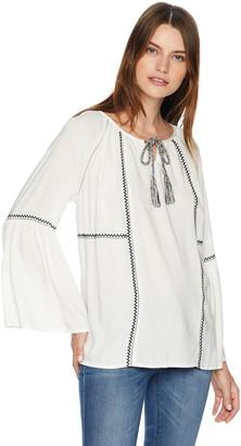 Karen Kane Women's Embroidered Peasant TOP