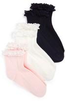 Ruby & Bloom Girl's Short & Sweet 3-Pack Ankle Socks