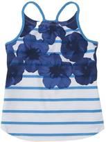 Nautica Little Girls' Floral Stripe Tank (2T-7)