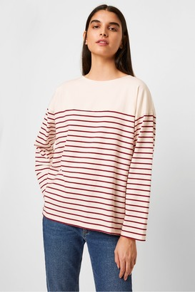 French Connection Tri Stripe Jersey Long Sleeve Top