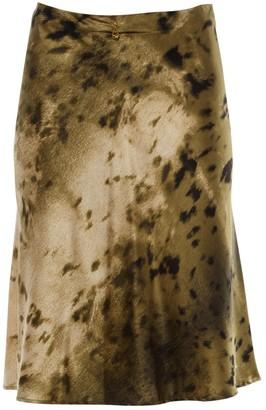 Roberto Cavalli Khaki Silk Skirt for Women