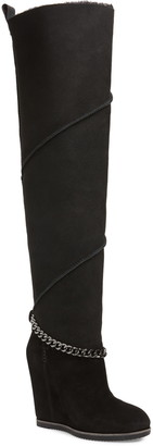 UGG Perfect Pairs Classic Mondri Genuine Shearling Lined Over the Knee Boot