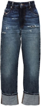 Diesel High Waist De Reggy Recycled Baggy Jeans