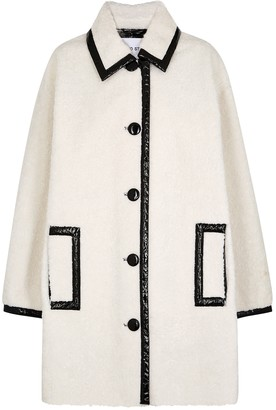 Stand Studio Jacey white faux shearling coat