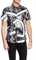 Versace Printed Short Sleeve Trim Fit Shirt