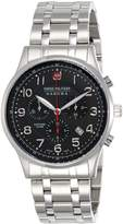 Swiss Military Hanowa Men's Patriot 06-5187-04-007 Stainless-Steel Quartz Watch with Black Dial