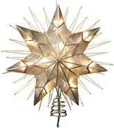 Kurt Adler Capiz Pre-Lit Star Tree Topper