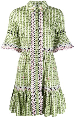Temperley London Poet embroidered shirt dress