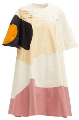 Roksanda Shayla Patchwork Cotton-blend T-shirt Dress - Womens - Yellow Multi