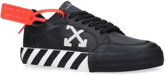 Off-White Off White Leather Vulcanised Low-Top Sneakers