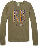 Scotch & Soda Melange Jersey Artwork T-Shirt